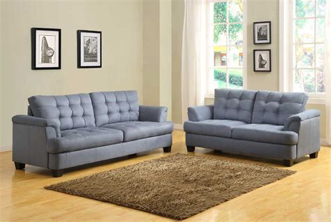 what color sofa with gray walls homelegance st charles sofa set blue gray u9736 3