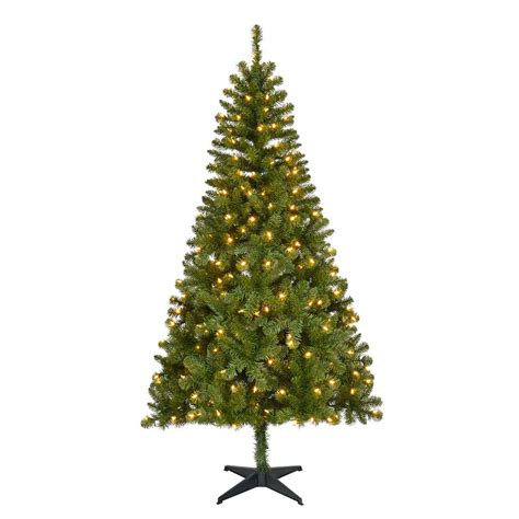 what artificial pre lit chridtmas are at home depot home accents 6 5 ft pre lit led festive pine
