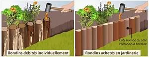 Rondin De Bois Pour Jardin : poser une bordure en rondins de bois am nagement de jardin ~ Edinachiropracticcenter.com Idées de Décoration