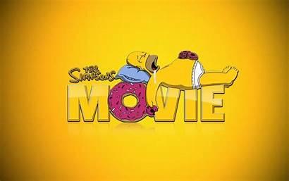 Homer Simpson Simpsons Sleeping Movie Donuts Wallpapers