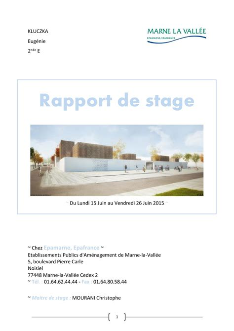 rapport de stage cuisine collective rapport de stage epa by laure kluczka issuu
