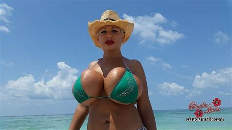 big tit beach big tits claudia marie