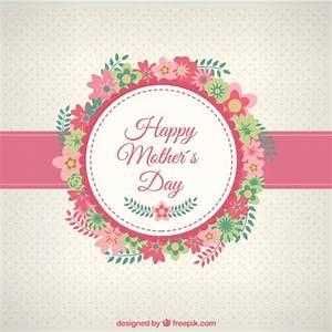 Happy Mothers day card con i fiori | Scaricare vettori gratis