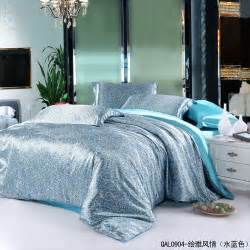 aqua blue paisley mulberry silk comforter bedding set for king queen size duvet cover bedspread