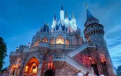 Disneyland Disney Castle Background Wallpapers Cinderella Walt