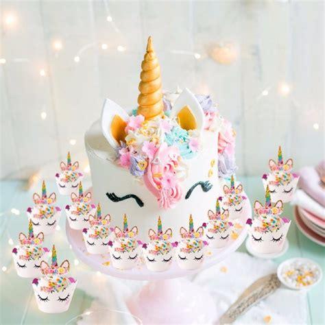 cute unicorn cake topper pink unicorn party unicorns