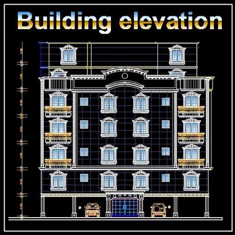 building elevationfacade design drawings  httpswwwcadblocksdownloadcom