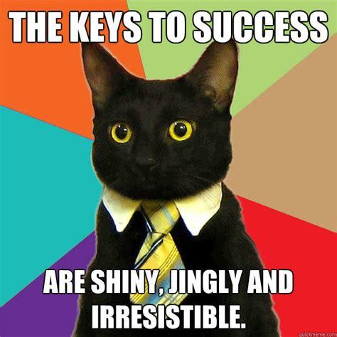 Success Cat Meme - the keys to success cat meme cat planet cat planet