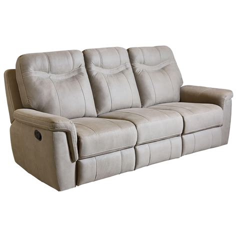Contemporary Stone Colored Reclining Sofa By Standard