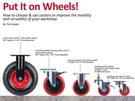 swivel casters put it on wheels how to choose use casters to improve