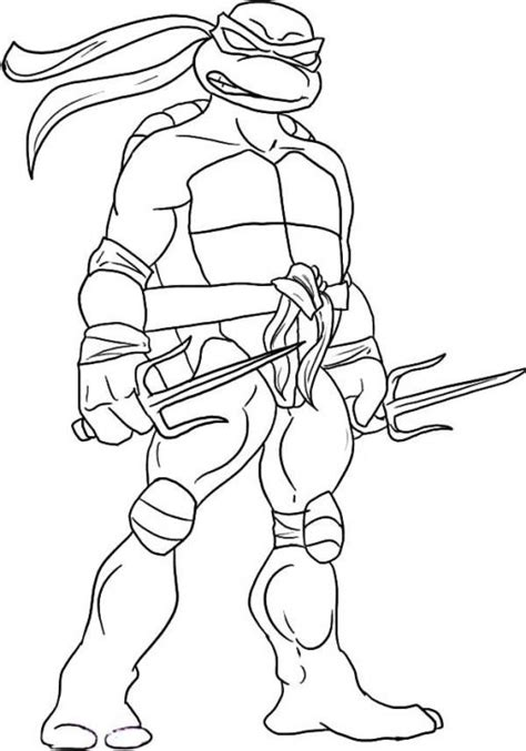 free tmnt raphael coloring sheet to print out