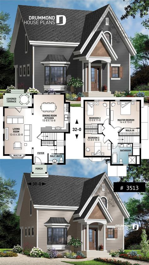 pin  drummond house plans  small house plans affordable home plans   house plans