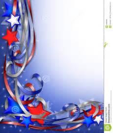 Patriotic Ribbon Corner Border Stars