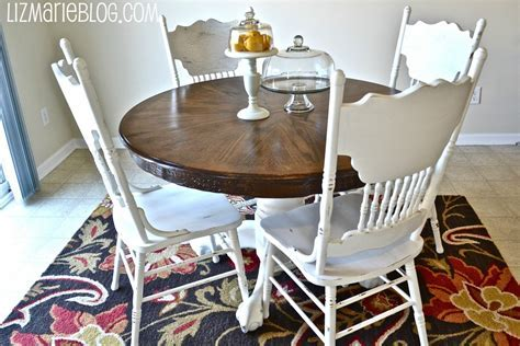 Wood Stain & White Kitchen Table   Liz Marie Blog