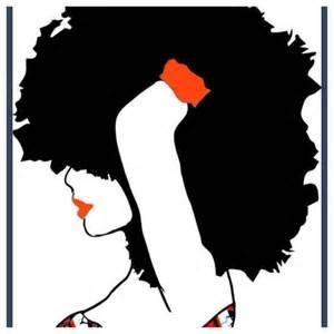 Black Women Natural Afro Hair Clip Art