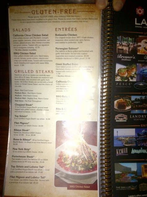claim jumper dining  glutenfree