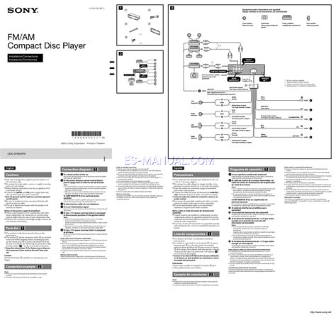 Wiring Diagram For Sony Xplod Cdx