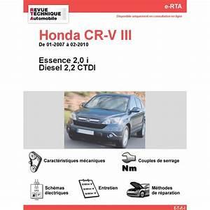 Honda Crv Essence : revue technique honda cr v iii essence et diesel rta site officiel etai ~ Melissatoandfro.com Idées de Décoration