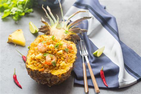 cuisine vegetarienne indienne riz sauté à l 39 ananas aux crevettes cuisine addict