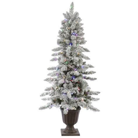 vickerman 30811 6 x 38 quot potted flocked nordic 200 multi