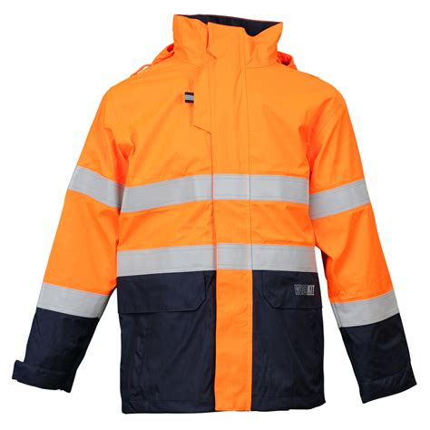 wet weather taped jacket inherent fr ppe neca safety
