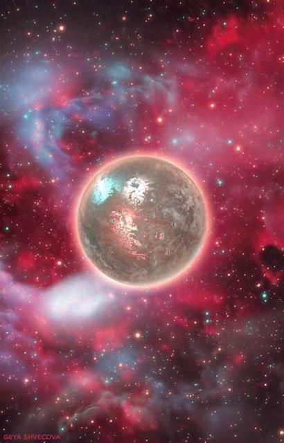 Planet Gifs Galaxy Space Shvecova Glitter Moon
