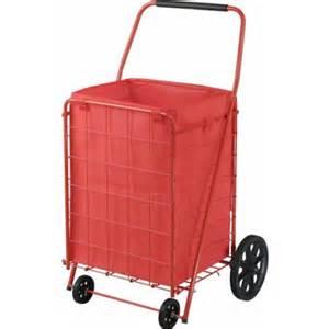 Sandusky 4-Wheel Folding Cart with Liner, FSC4021, Red