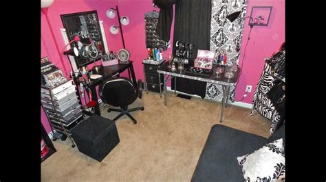 Zebra Themed Bedrooms by My Updated Makeup Room Pink Or Zebra Lovers Youtube