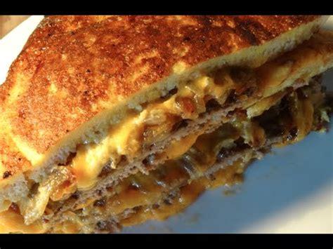 cuisiner un steak haché sandwich frit au steak haché cheddar recette 47