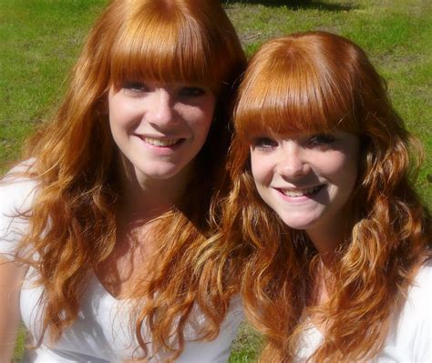 Twins Lovely Redhead Twins In The Valkenberg Park