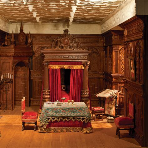 tudor bedroom  national museum  toys  miniatures