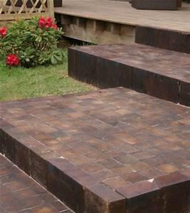 Pavé De Bois : terrasses en bois le pav dans le jardin d co ~ Premium-room.com Idées de Décoration