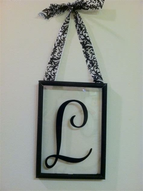wee meenit monogram vinyl letter  glass frame