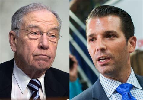 Grassley Wants Donald Trump Jr. to Testify in Russia Probe