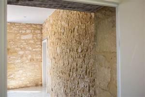 Mur Pierre Apparente : mur en pierre apparente dans la cuisine contemporain ~ Premium-room.com Idées de Décoration