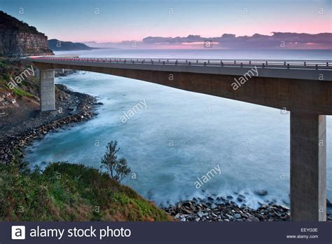 Sea Cliff Bridge Illawarra New South Wales Australia Stock
