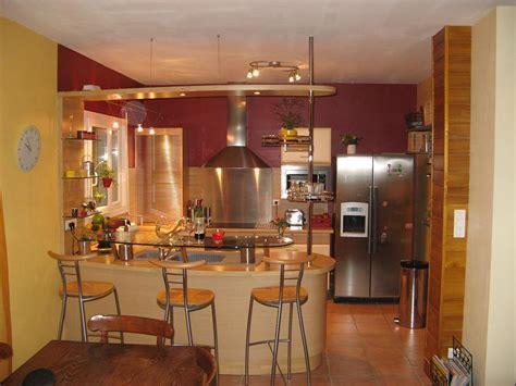 meuble bar separation cuisine americaine ambiance cuisine meubles contarin