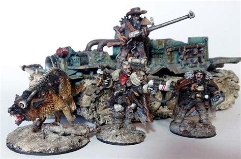 ash necromunda bounty waste wastes hunter gang hunters dark conversion ganger 40k warhammer agency truck rust corners mordheim dakkadakka inq28
