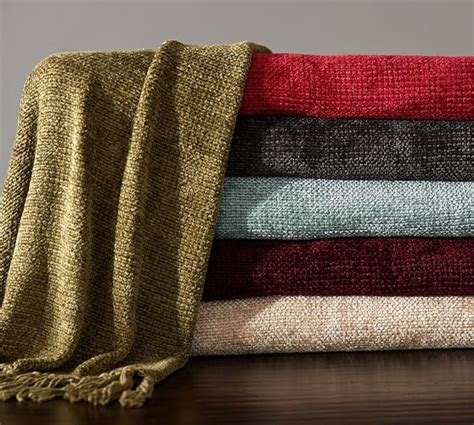 pottery barn throw rayon chenille throw pottery barn