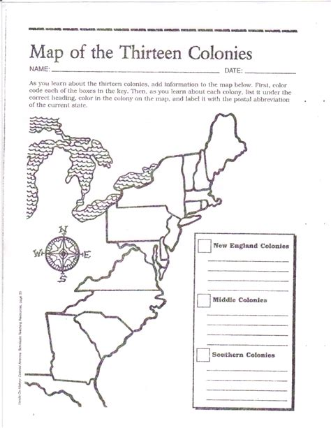 Label The 13 Colonies Worksheet Worksheets For All  Download And Share Worksheets  Free On