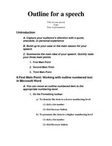 Self Introduction Speech Outline