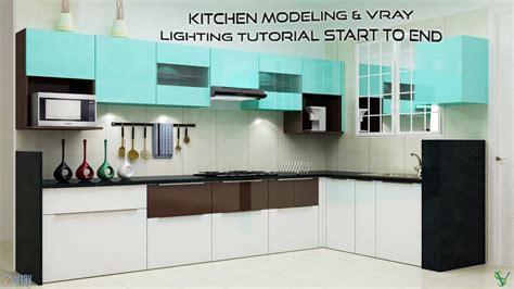 3d max kitchen design 3d max kitchen modeling vray lighting tutorial start to 3895