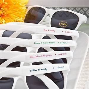 personalized white frame wedding sunglasses favors With sunglasses for wedding favors