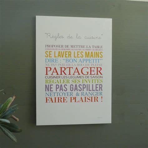 affiche pour cuisine affiche cuisine