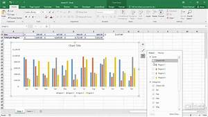 Showing Filters In Charts - Excel 2016 Charts