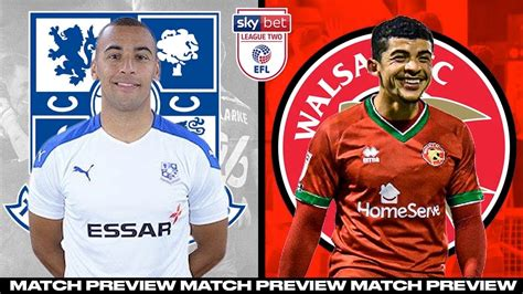 TRANMERE ROVERS VS WALSALL MATCH PREVIEW! - YouTube