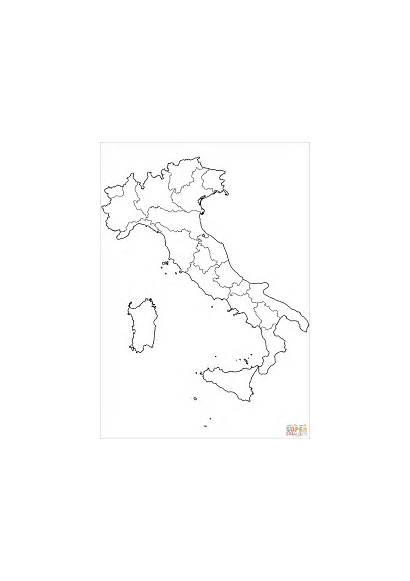 Colorare Disegni Mappa Italy Map Regions Coloring