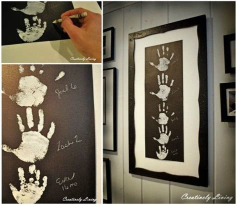 ideas  family hand prints  pinterest hand prints hand print tree  footprint