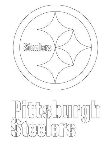 pittsburgh steelers logo coloring page  nfl category