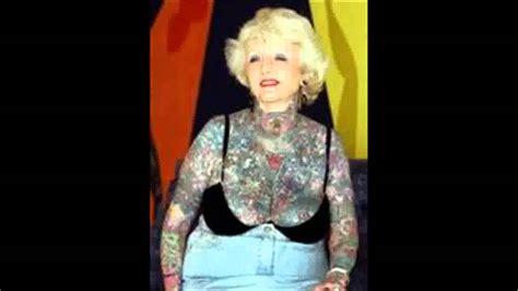 isobel varley world s most tattooed female senior citizen dies aged 77 youtube
